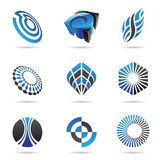 Various blue abstract icons, Set 3. Various blue abstract icons isolated on a white background Stock Image