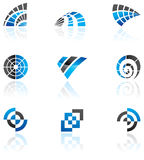 Various blue logos Stock Photography