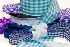 Various blue ribbons Royalty Free Stock Photo