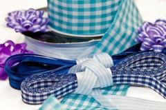 Various blue ribbons Royalty Free Stock Photo