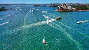 Sailing By The Opera House royalty free stock photo