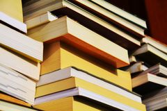 Various books, close up Royalty Free Stock Photo