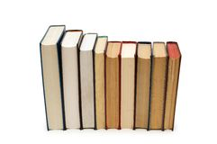 Various books isolated on the white background Royalty Free Stock Images