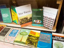 Various books in window of Oxfam charity shop, Market Street, No Stock Photography