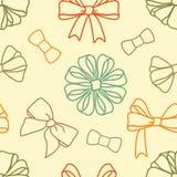 Various-bows-pattern Royalty Free Stock Photo