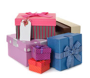 Various boxes Royalty Free Stock Images