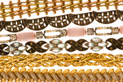 Various bracelets isolated Stock Photos