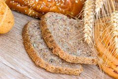 Various Bread And Pastry On The Table Royalty Free Stock Photography