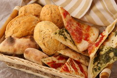 Various bread in basket Royalty Free Stock Photography
