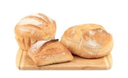 Various of bread on cutting board. Stock Photography