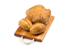 Various of bread on cutting board Stock Image