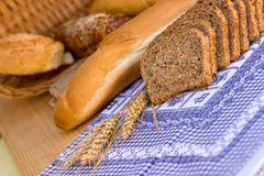 Various bread and pastry Royalty Free Stock Images
