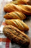 Various bread pieces from bakery fresh elaboration Stock Photos