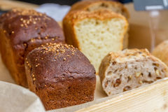 Various Bread and Sheaf of Wheat Royalty Free Stock Photo
