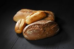 Various bread on table Stock Photography