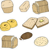 Various Breads and Rolls Royalty Free Stock Photography