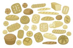Various Breads Set Stock Photography