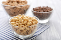 Various breakfast cereals Royalty Free Stock Photo