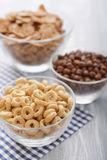 Various breakfast cereals Stock Images