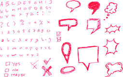 Various Bubble Chat with letter and numbers Stock Photography