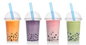 Various Bubble Tea Royalty Free Stock Images