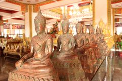 Various Buddha. Is enshrined in the temple Royalty Free Stock Image