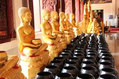 Various Buddha. Is enshrined in the temple Stock Images