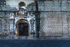 The Streets of Antigua, Guatemala. Various buildings and architecture in Antigua, Guatemala royalty free stock photo