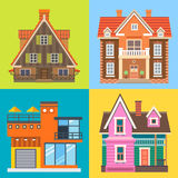 Various buildings house Royalty Free Stock Photos
