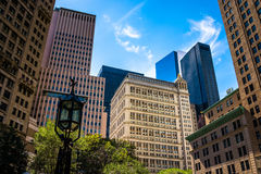 Various buildings in Lower Manhattan, New York. Stock Photography
