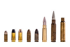Various bullets isolated Royalty Free Stock Image