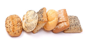 Various buns. Buns with various seeds on white background Royalty Free Stock Photography