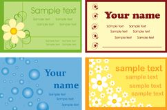 Various business cards. Royalty Free Stock Images