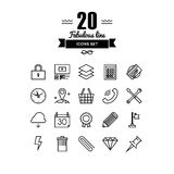 Various business elements line icons set Royalty Free Stock Image