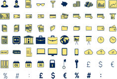 Various business icons. On white background Royalty Free Illustration