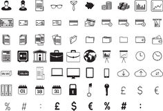 Various business icons. On white background Vector Illustration