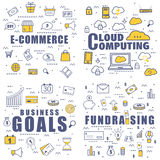 Various Business Infographic element. Royalty Free Stock Images