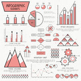 Various business infographic elements for corporate sector. Stock Images
