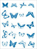 Various Butterflies. Butterfly collage illustrations for use in web and print applications Royalty Free Stock Photo
