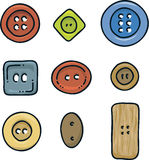 Various Buttons Royalty Free Stock Image