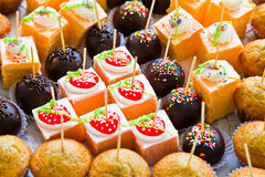 The Various Cakes Royalty Free Stock Photography