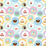 Various cakes. Illustration of various cakes on a white background royalty free illustration