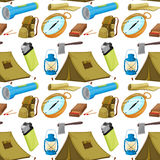 Various camping objects Royalty Free Stock Photos