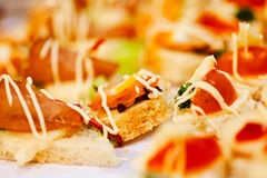 various canapes Stock Images