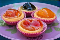 Various candied fruits close up Stock Photo