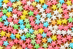Various candy color stars background Royalty Free Stock Photos