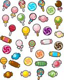 Various Candy Illustration in White Background Stock Image