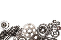 Various car parts and accessories, isolated on white background - Image stock photo