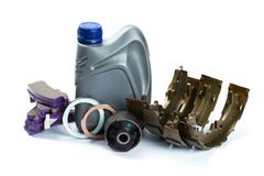 Various car parts necessary for vehicle service royalty free stock photo