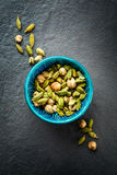 Various Cardamom Spices in Authentic Turkish Bowl Royalty Free Stock Photo